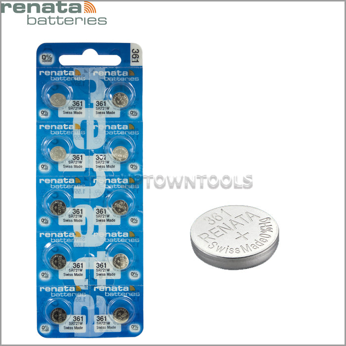 RENATA  361 ( SR721W )   Silver Oxide Batteries (High Drain), 1.55 V-1 STRIP (5pcs)