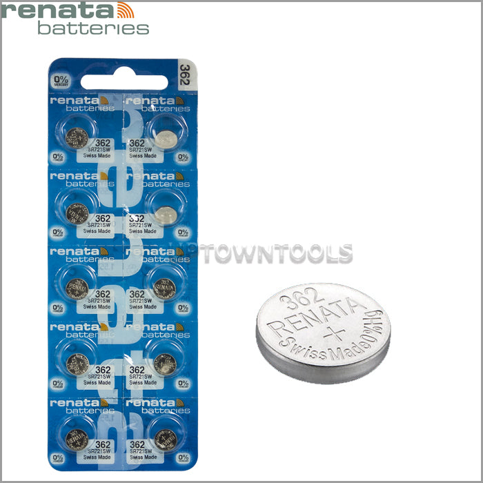 RENATA  362 ( SR721SW )   Silver Oxide Batteries (High Drain), 1.55 V-1 STRIP (5pcs)