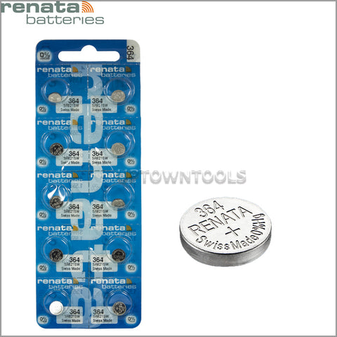 RENATA  364 ( SR621SW )   Silver Oxide Batteries (High Drain), 1.55 V-1 STRIP (5pcs)