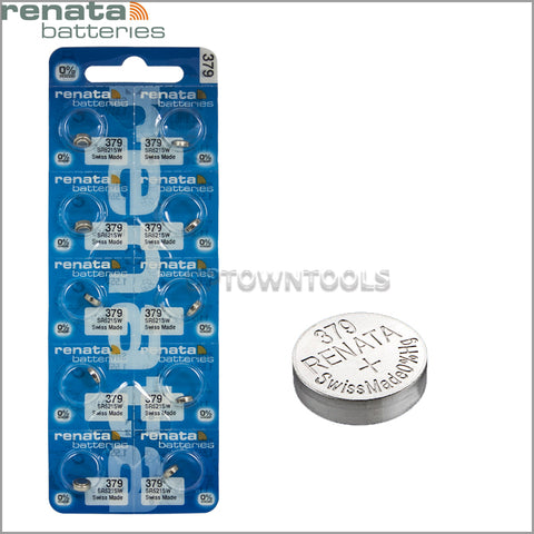 RENATA  379 ( SR524SW )   Silver Oxide Batteries (High Drain), 1.55 V-1 STRIP (5pcs)