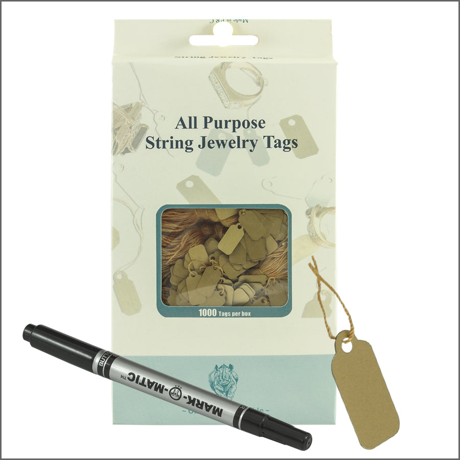 String jewelry Tags