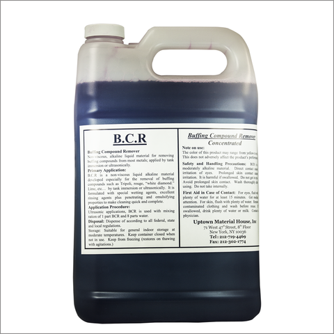 Buffing compound remover