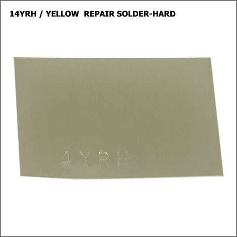 14yrh  yellow repair solder-hard