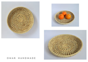 Egyptian Traditional Basket Palm leaf & Halfa grass