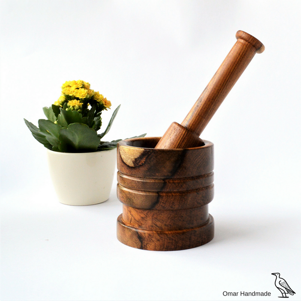 Traditional Mortar and pestle set, Hard rosewood