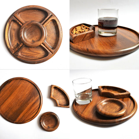 5 sections snack tray 9.5""