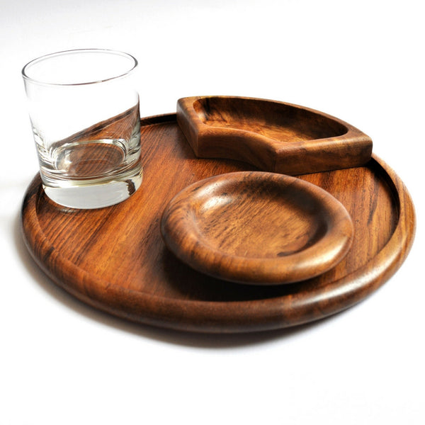 5 sections Wooden Snack Tray (Omar waterwheel)