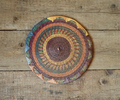 Vintage decor plate, Nubian wall decor