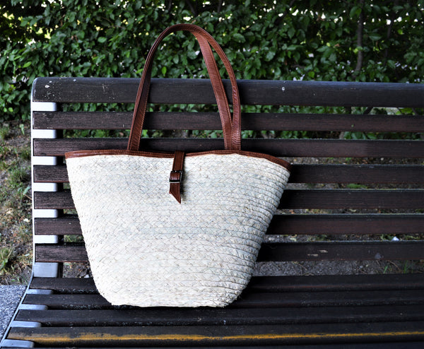 Modern French basket, Summer basket bag