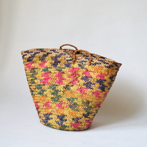 Antique basket, Rustic bag, Nubian decor