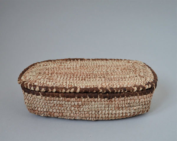 Rustic rectangle woven box