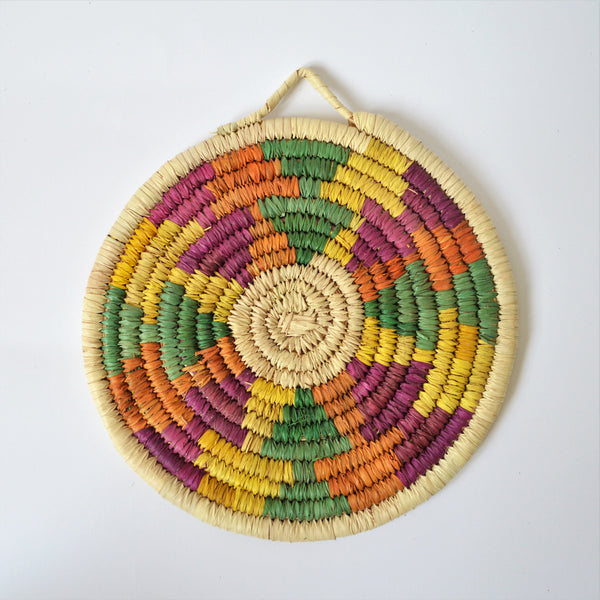 Traditional woven Nubian plates (Orange fusion!)