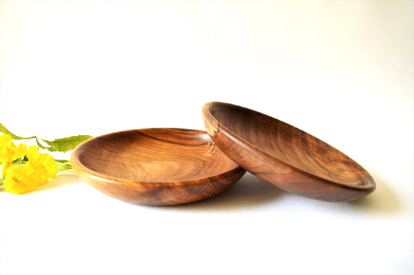 Hand-turned Wooden Salad Plate