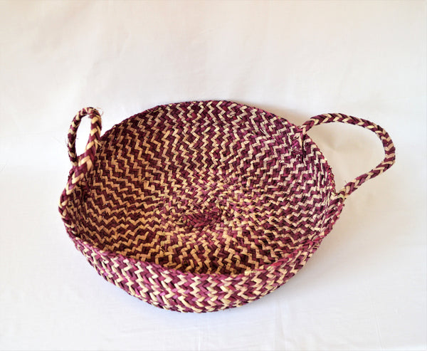 Cat bed basket, Round pet bed, Purple