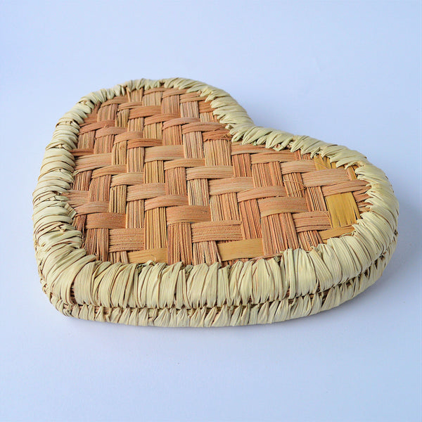 Heart shape Palm leaves Catchall tray