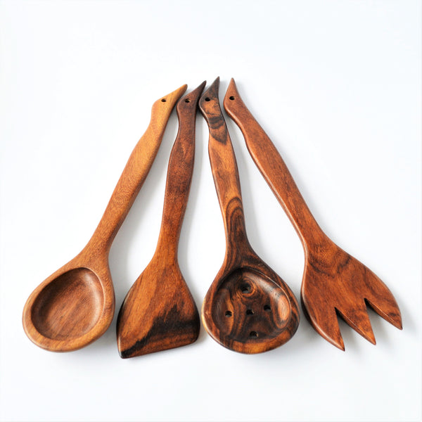 Decorative Hand carved  Kitchen spoons set