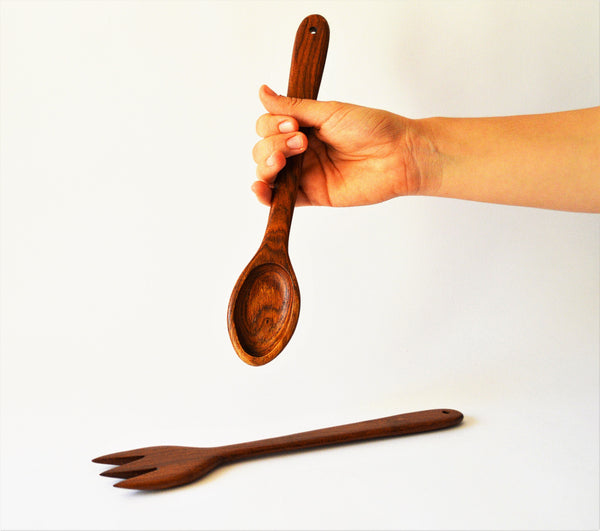 Kitchen spoon and fork 10""