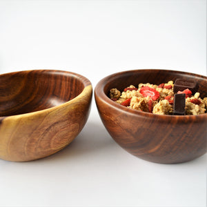 Hand-turned wood cereal bowl