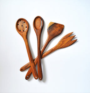 Rosewood Kitchen spoons set 4 pieces