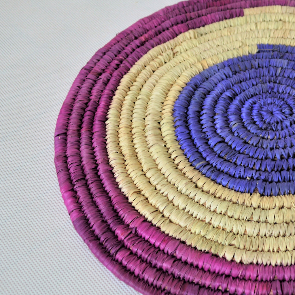 Large Nubian trivet (P30217) Purple and blue wall decor