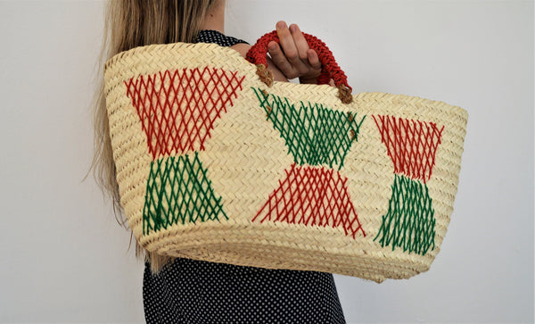Woven fresh market bag, Wahat wicker summer bag