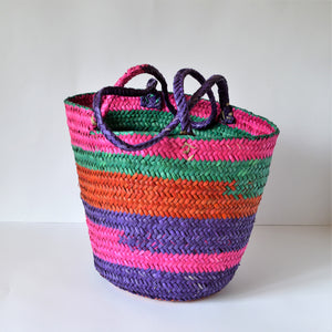 Purple basket bag JUDE, Shopper bag