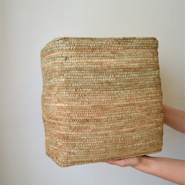 Rustic Hand woven basket, Rectangle African basket, Supreme box