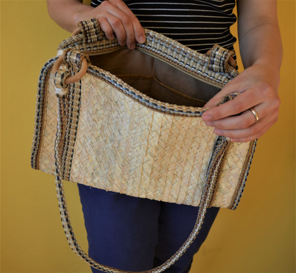 Day straw bag, Summer shoulder bag