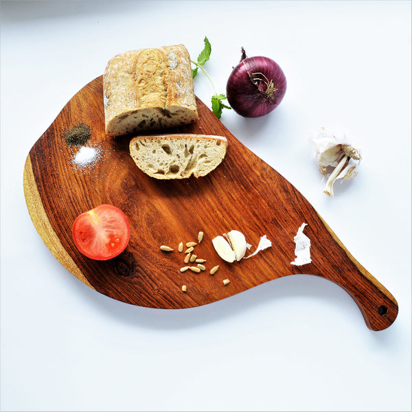 Wooden serving board organic shape (one piece available)