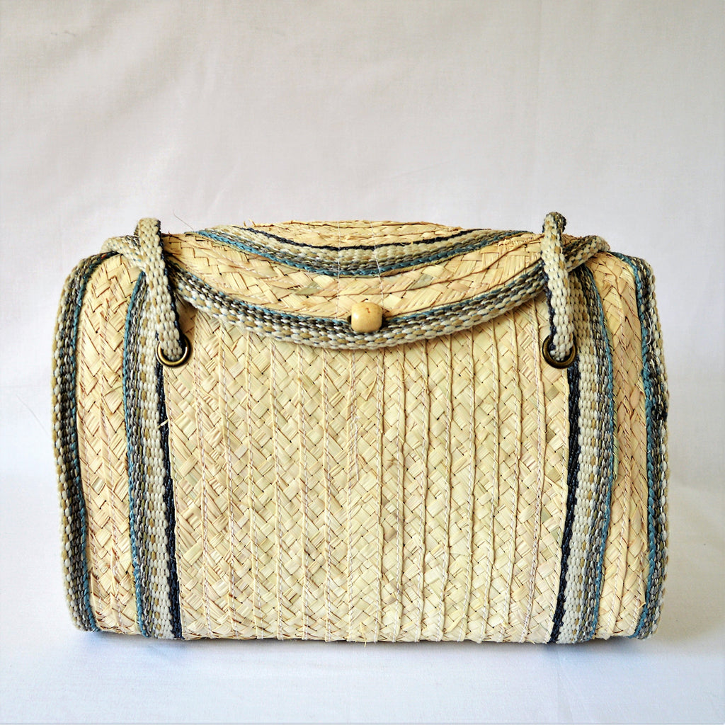 Straw shoulder bag, Summer handbag