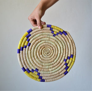 Mexican decor plate palm straw