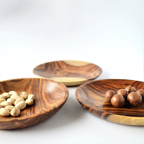 Hand-turned Rosewood dishes 2 pieces