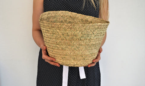 Palm leaf basket, Vegetables storage basket