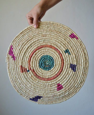 Handwoven wall decor basket