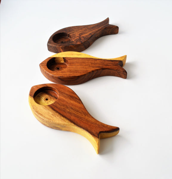 Fish Candle Holder, Wooden fish Tealight