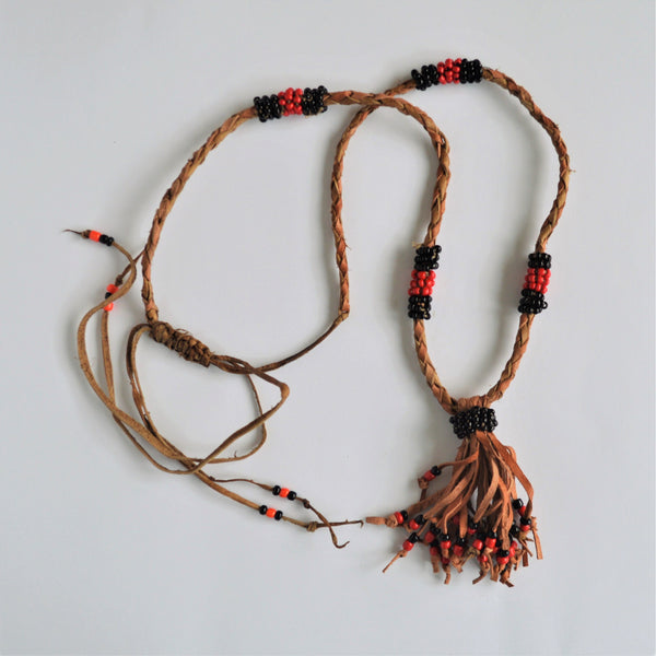 Black and red beads Ethnic Egyptian necklace