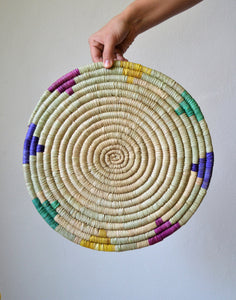 Woven colorful trivet Mandala wall art
