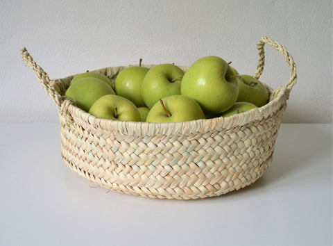 Braided round basket
