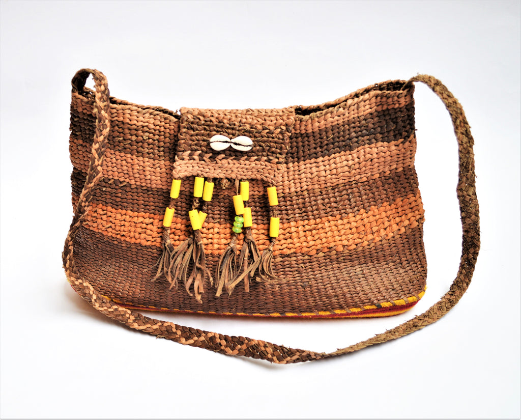 Hippie bag, Vintage leather bag
