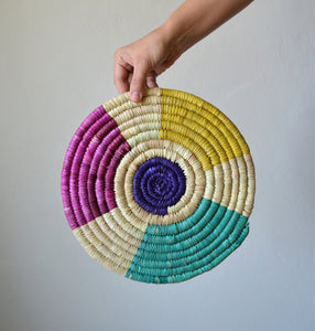 Colorful wall basket Mandala