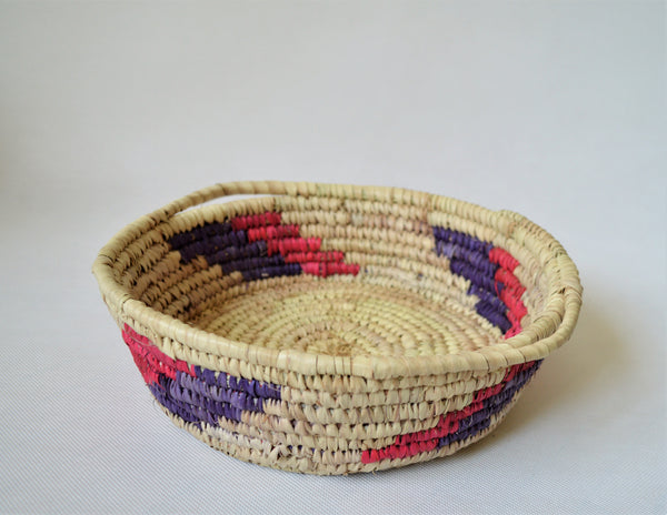 Wicker retro tray, Decor woven plate