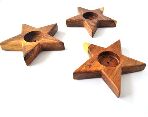 Star Candle Holder, Tealight Holder, Kerzenhalter