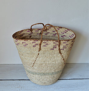 Large Vintage purple basket