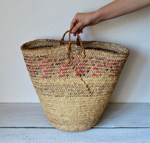 Vintage woven basket from Nubia