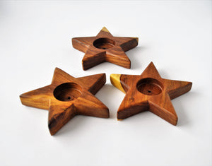 Handmade Star Candle Holder, Tealight Holder