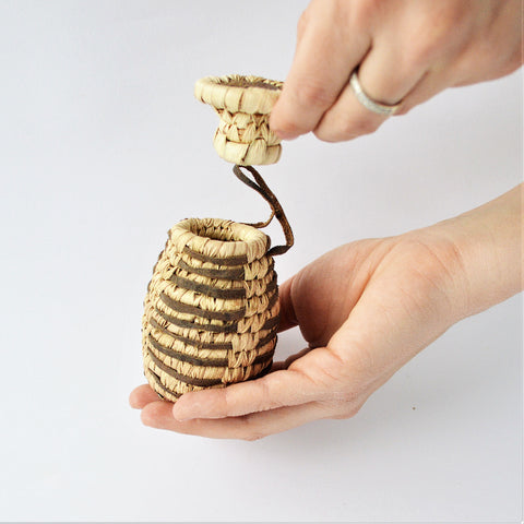 Woven Ring box, mini jewelry box