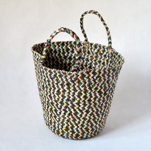 Boho straw basket, Home decor, African bag