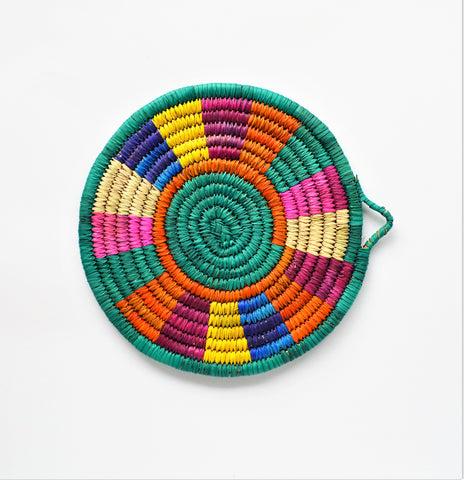 Sunny Morning - Woven trivet from palm leaves