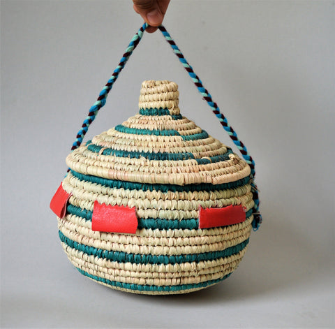 Decorative boho basket with lid