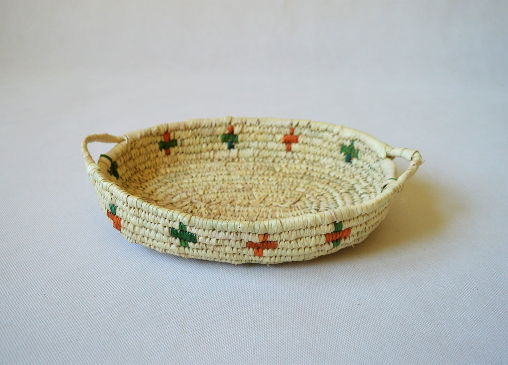 Nubian plate, Handwoven, Oval